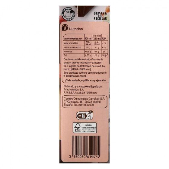 Caldo de carne - Informations nutritionnelles - es