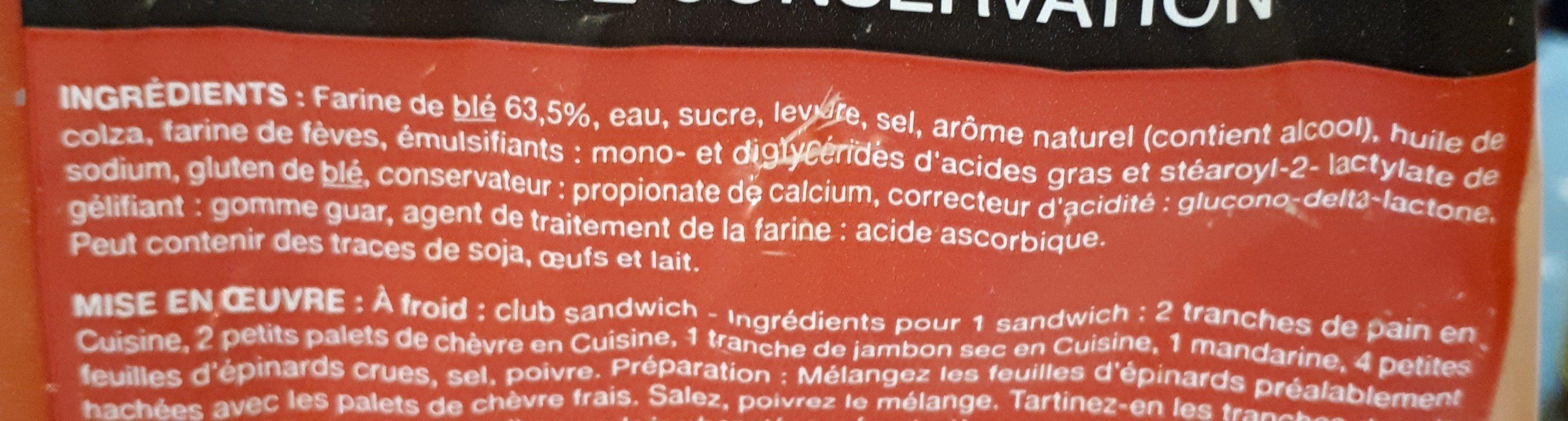 Pain de mie spécial croque monsieur - Ingredients - fr