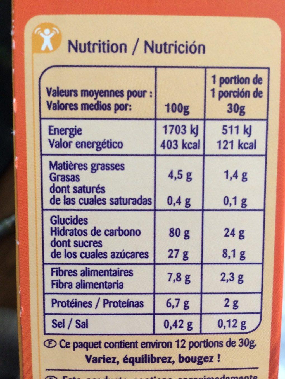 Miel Numberz - Carrefour Kids - Informació nutricional