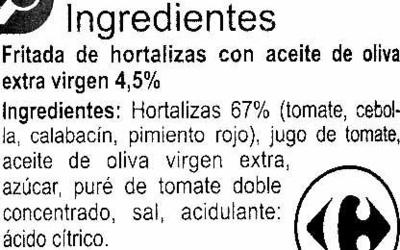 Fritada - Ingredientes