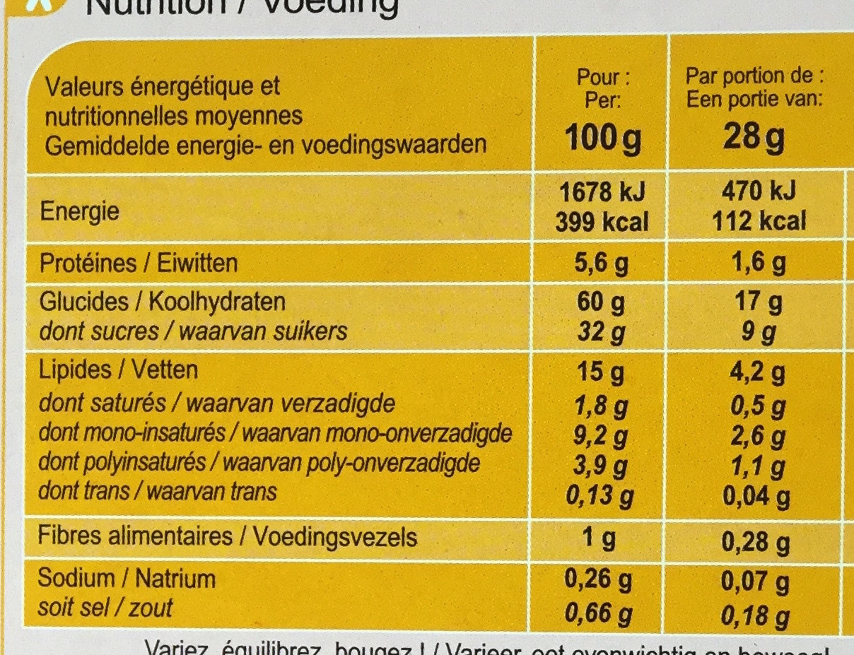 Lapinou - Informations nutritionnelles - fr