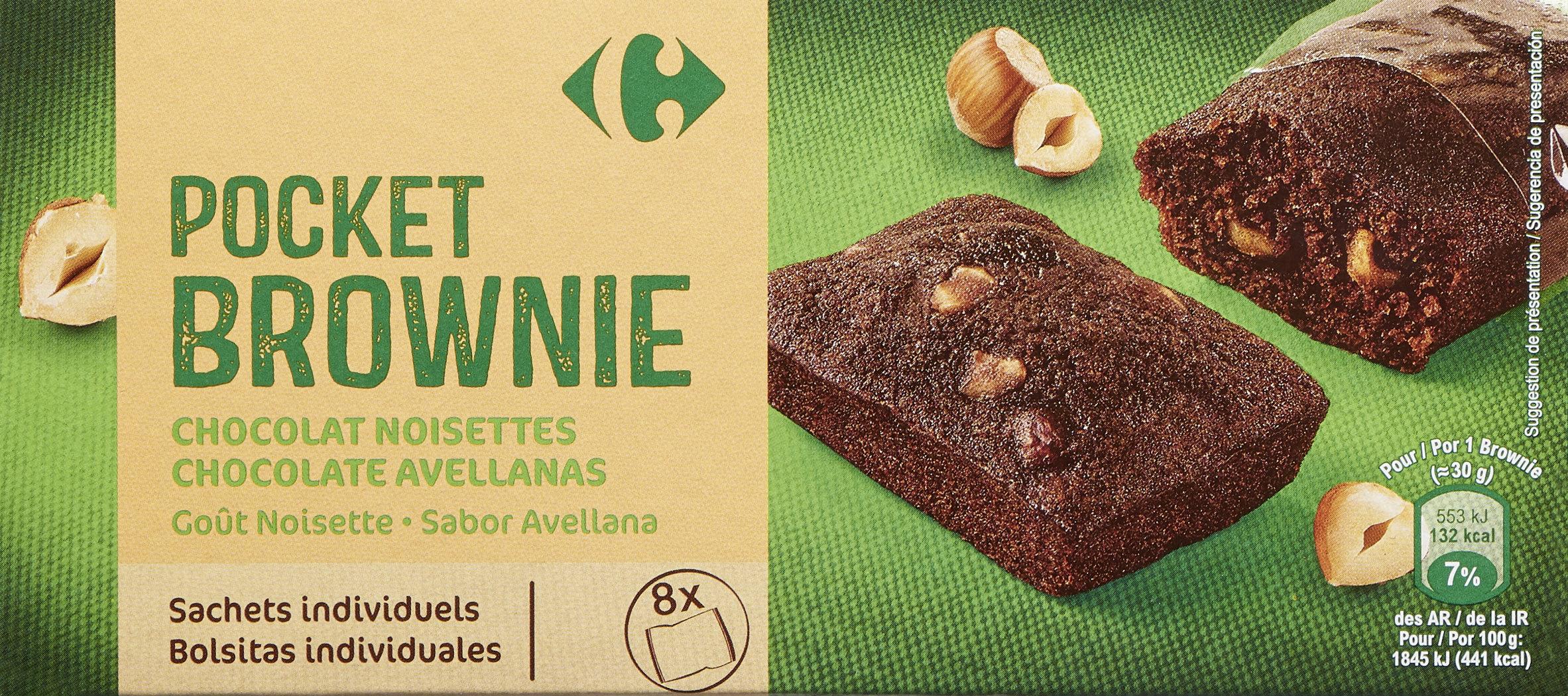 Brownie  chocolat noisettes goût noisette. - Product - fr