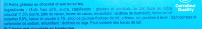 Brownie  chocolat noisettes goût noisette. - Ingredients - fr