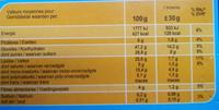 Brownie  chocolat noisettes goût noisette. - Nutrition facts - fr