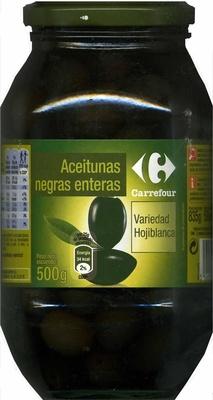 """Aceitunas negras enteras """"Carrefour"""" Variedad Hojiblanca"""