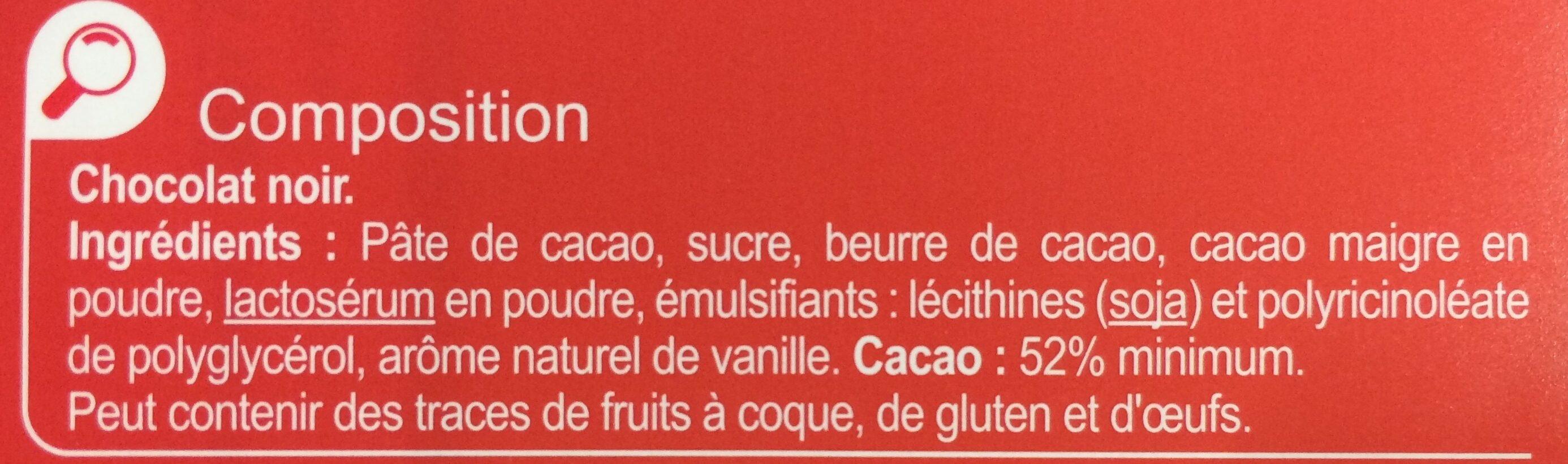 Noir chocolat dessert - Ingrediënten