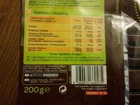 Noir chocolat dessert - Voedigswaarden