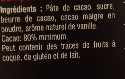 Sélection carrefour - Ingredients