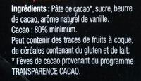 NOIR 80% Cacao - Ingredienti - fr