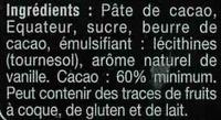 Noir  équateur boisé & fruité - Ingredients
