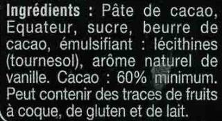 Noir  équateur boisé & fruité - Ingrédients - fr