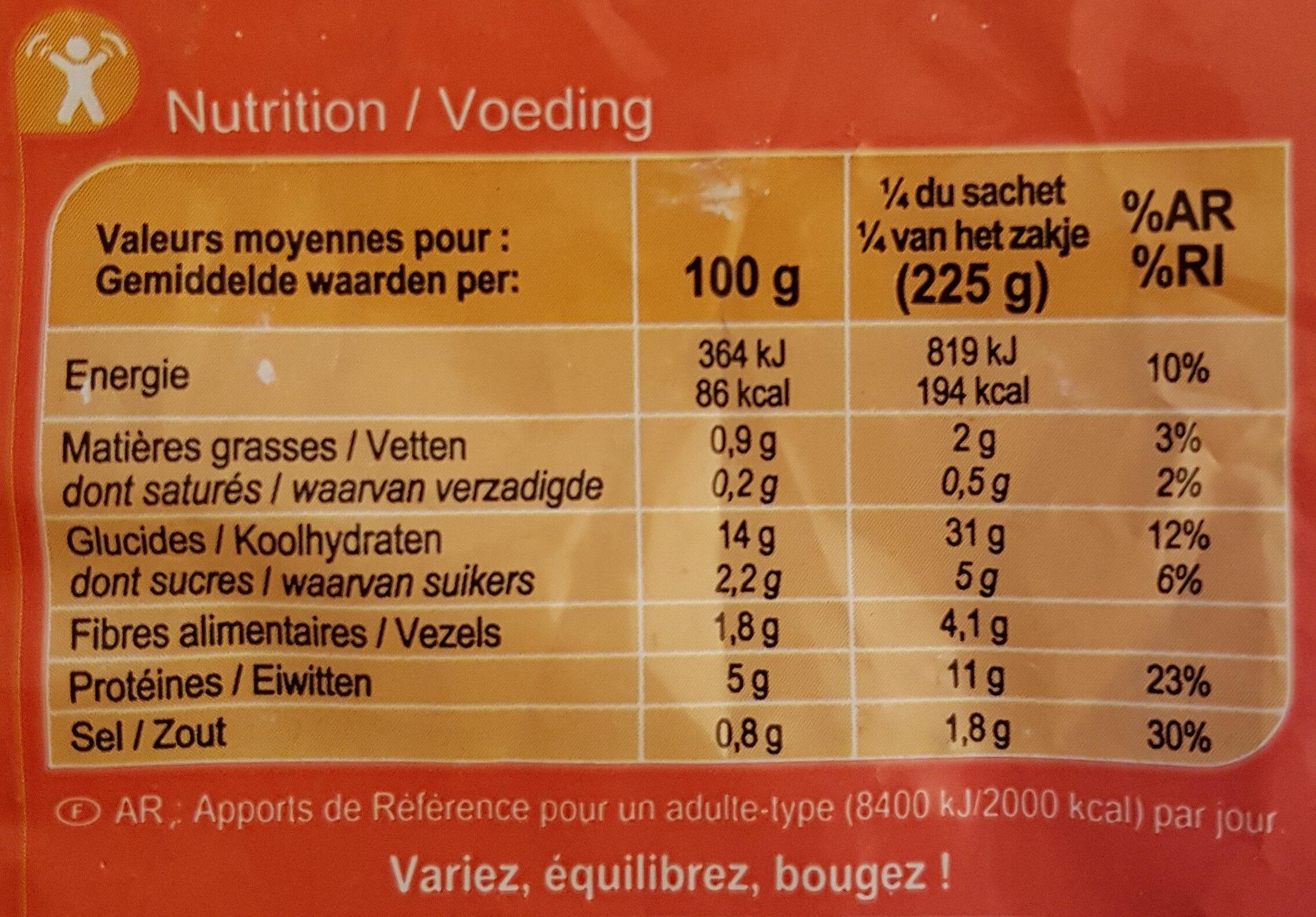 Nouilles Sautées aux Crevettes - Informations nutritionnelles
