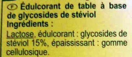 Édulcorant Stévia - Ingredientes - fr
