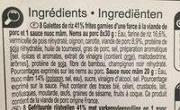 Mini nems porc - Ingredients - fr