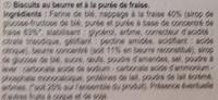 Tartelettes Purée de Fraise - Ingredients - fr