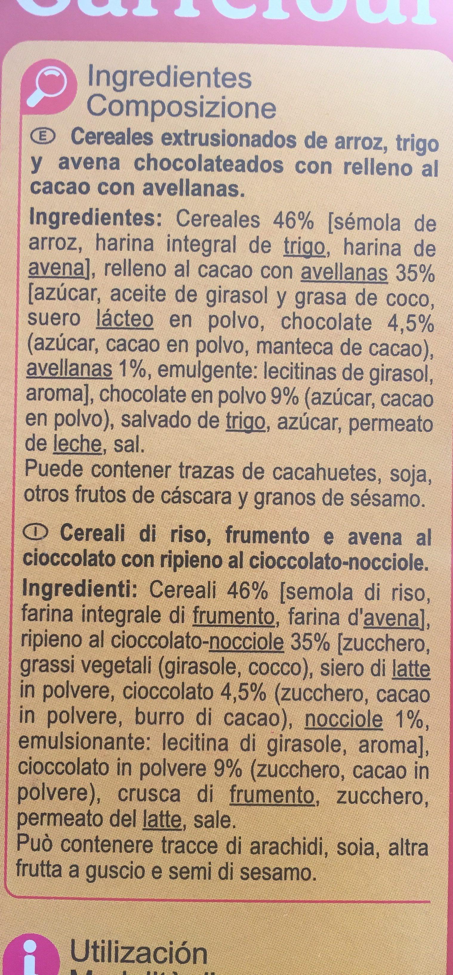 X'trem cacao y avellanas - Ingrediënten - es