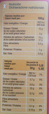 X'trem cacao y avellanas - Voedingswaarden - es