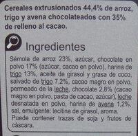 X'tremal cacao - Ingredientes - es