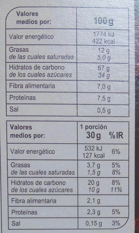 X'tremal cacao - Información nutricional - es