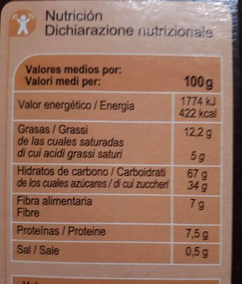 X'tremal cacao - Informations nutritionnelles