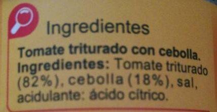 Tómate triturado con cebolla - Ingredientes - es