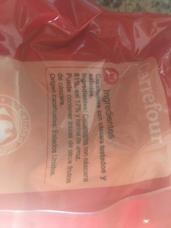 Cacahuetes tostados salados - Ingredientes - es