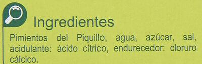 Pimientos del PiquilloEnteros - Ingredientes