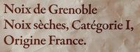 Noix seches de Grenoble - Ingrédients - fr