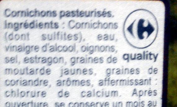 Cornichons Mini (Extra Croquants) - Ingredients - fr
