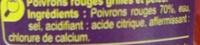 Poivrons rouges Entiers - Ingrédients