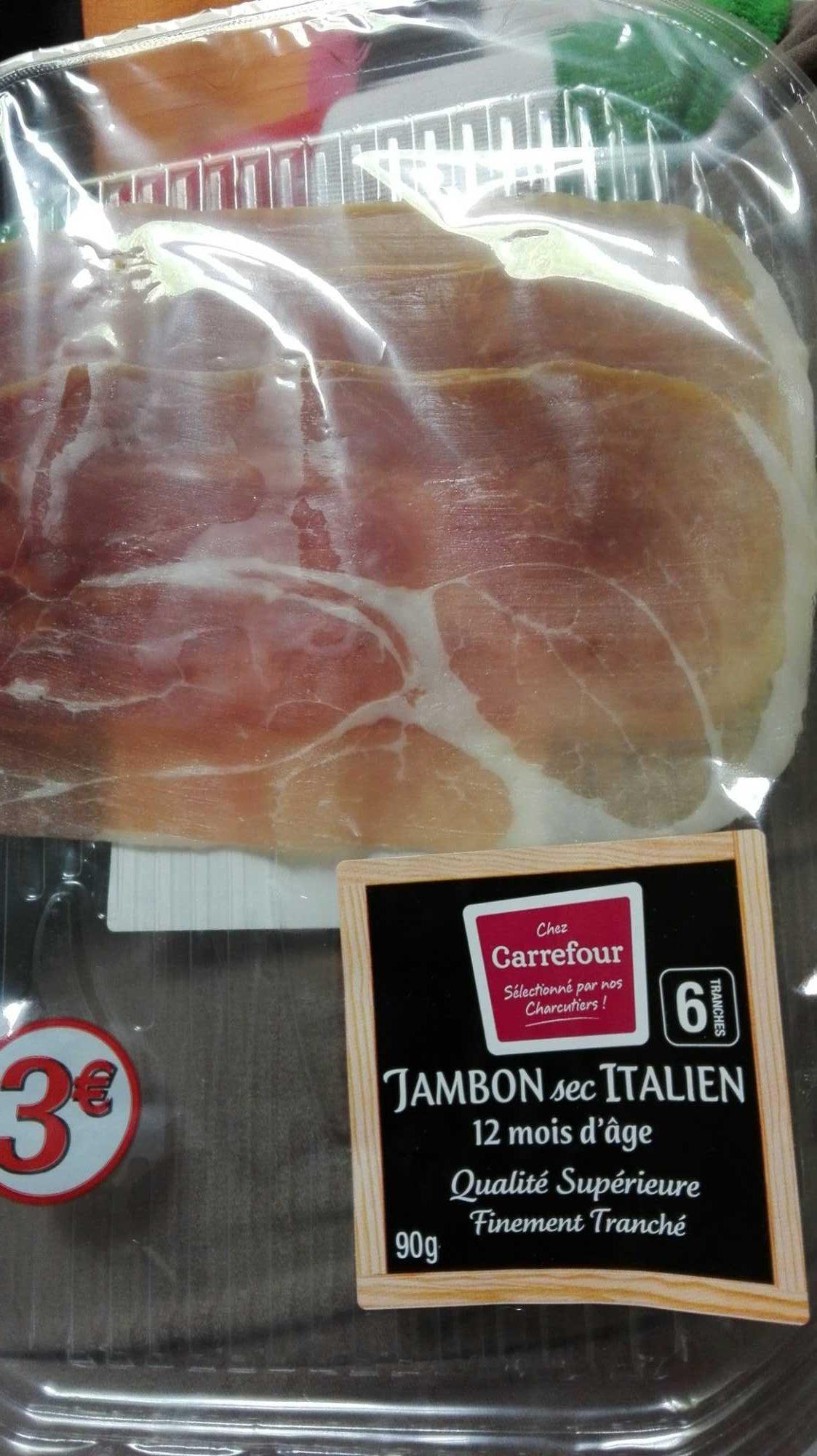 Jambon cru supérieur italien 12 mois d'âge - Produit