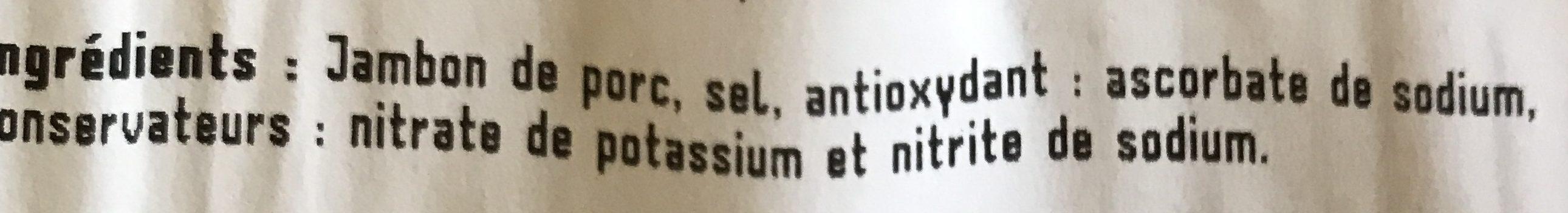 Fines tranches de jambon cru Serrano 11 mois d'âge - Ingredientes
