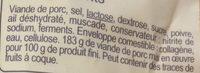 Mini Saucissons Secs - Ingrediënten