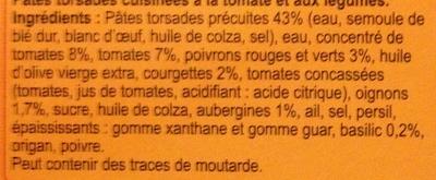 Pâtes à la provençale - Ingrédients - fr