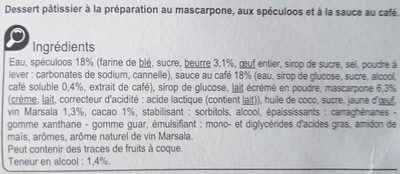 Tiramisu aux Speculoos - Ingredients