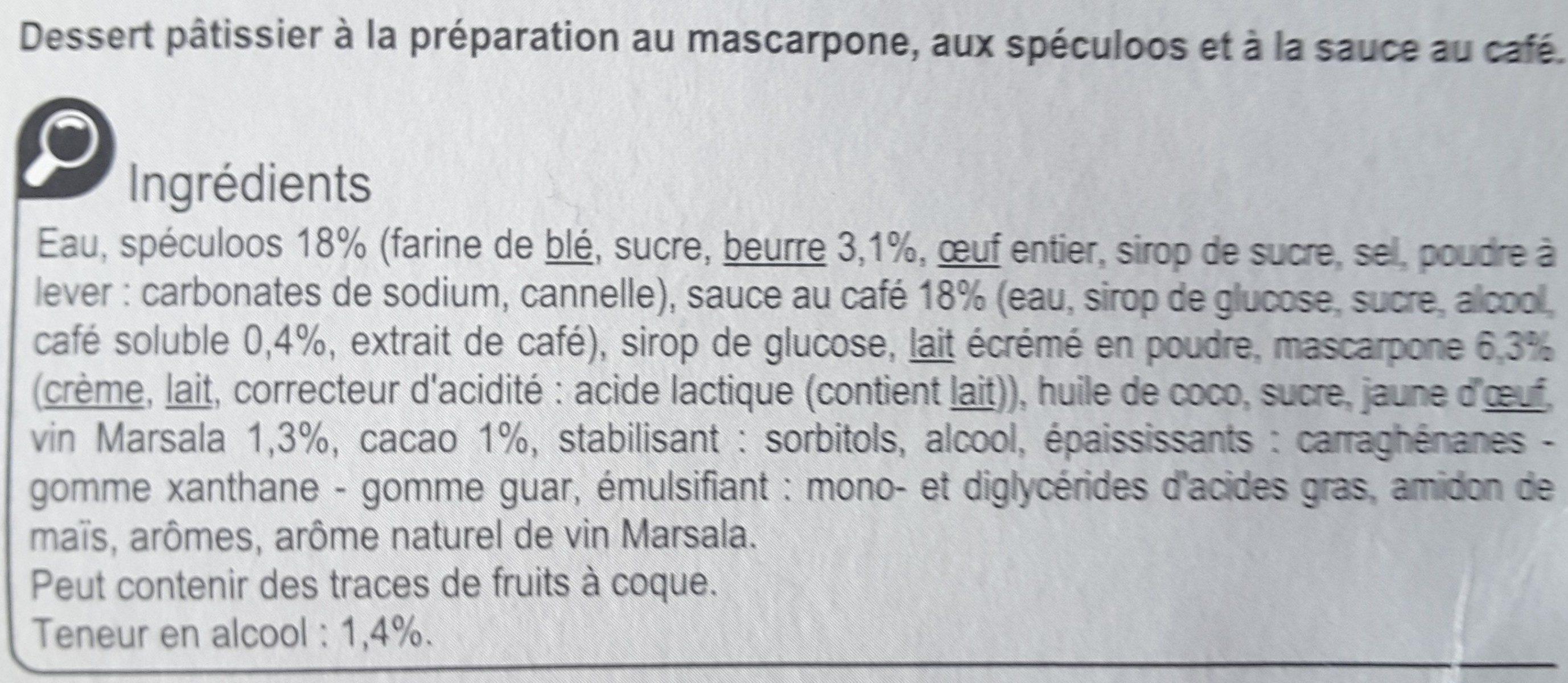 Tiramisu aux Speculoos - Ingredienti - fr