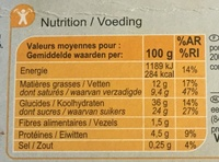 Tiramisu aux Speculoos - Nutrition facts