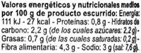 """Alcaparras """"Carrefour"""" - Información nutricional"""