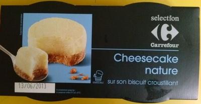 Cheesecake nature sur son biscuit croustillant - Produit - fr