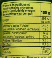 Bifidus saveur Vanille (4 Pots) - Nutrition facts - fr