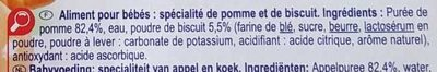 Pomme biscuit - Ingredients - fr