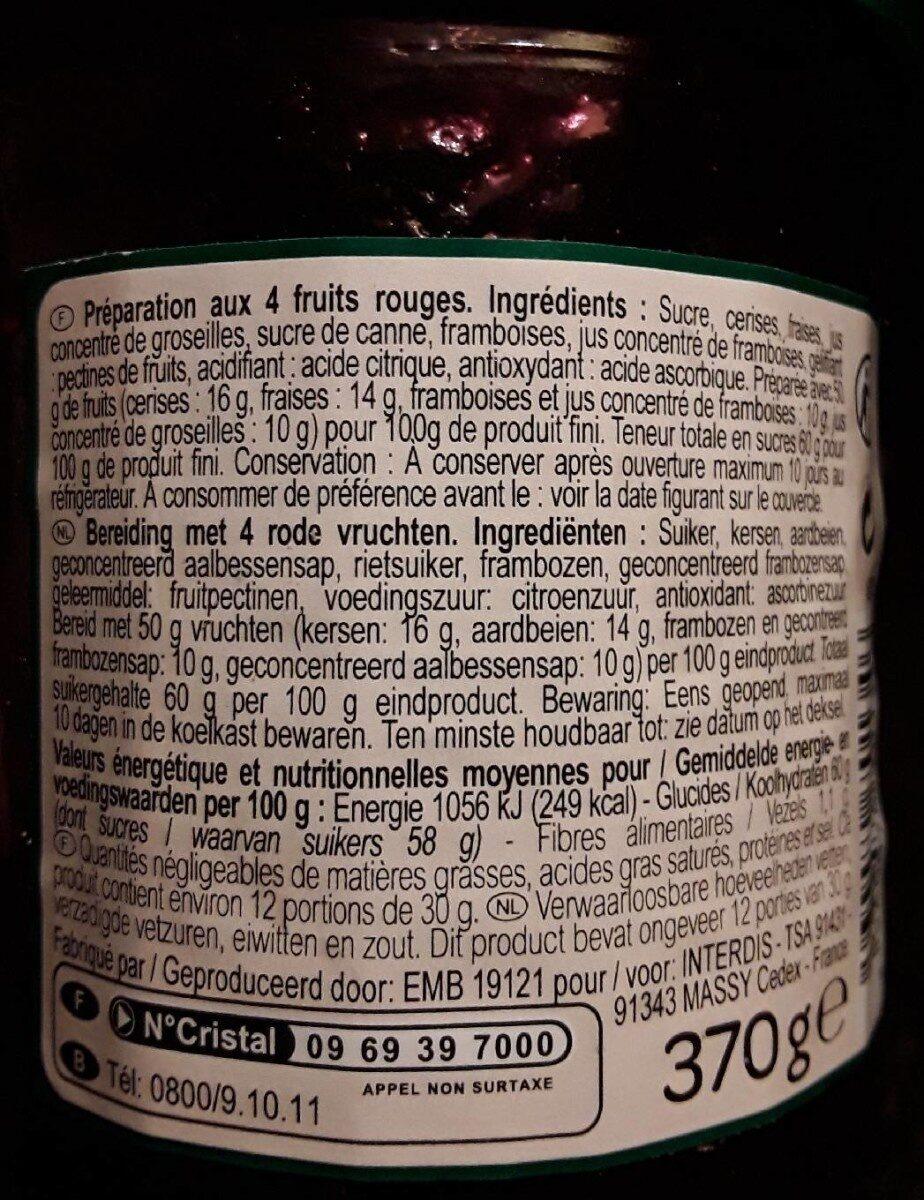 Confituur 4 Rode Vruchten - Product - nl