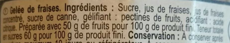 Gelée Fraise - Ingrediënten - fr