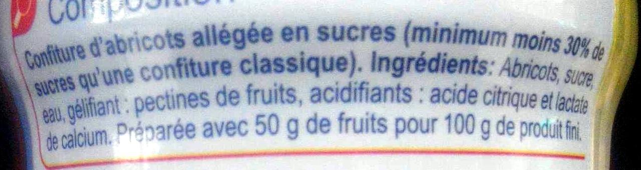 Confiture d'abricots -30% de sucres - Ingredientes - fr