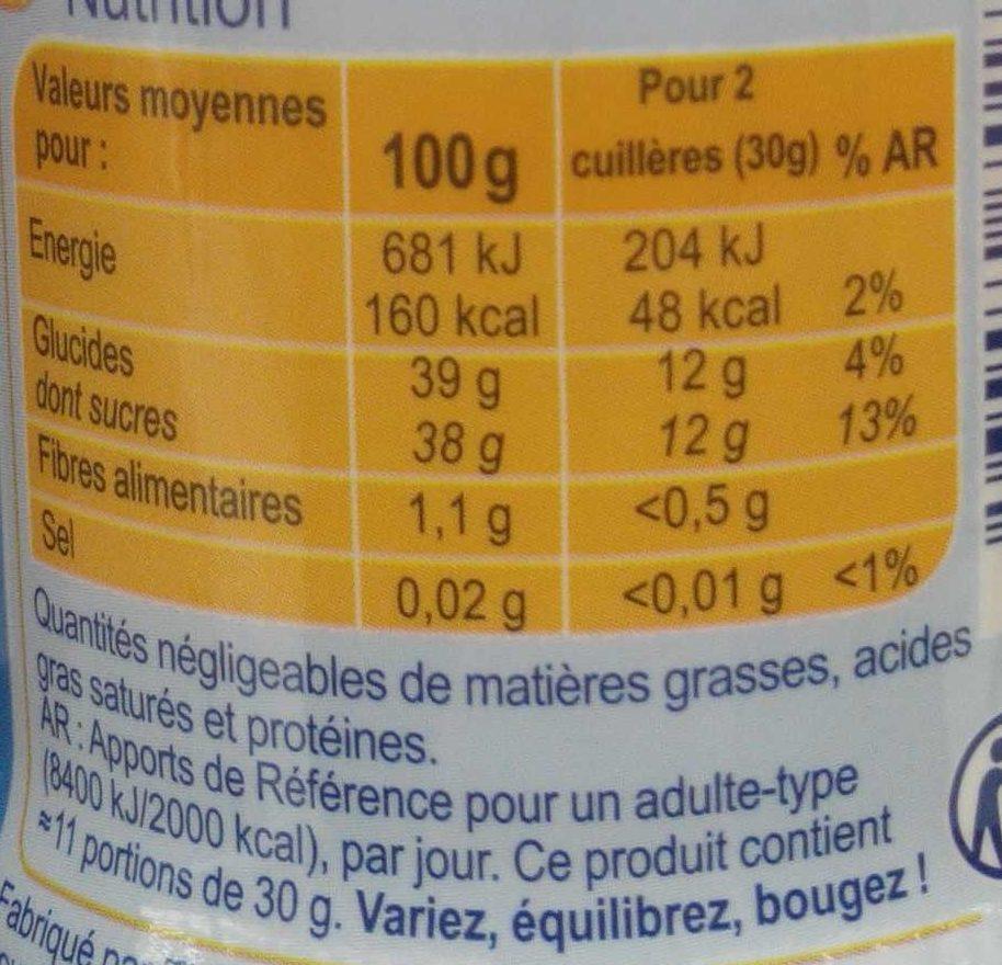 Confiture d'abricots -30% de sucres - Información nutricional - fr