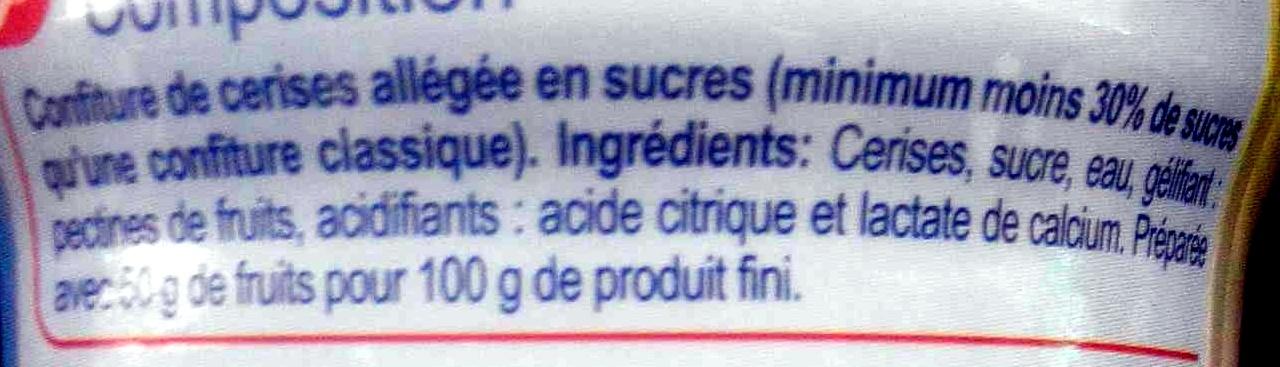Confiture de cerises -30 % de sucres - Ingrédients - fr