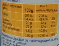 Confiture de reines-claudes -30 % de sucres - Informations nutritionnelles - fr