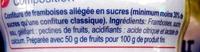 Confiture de framboises -30% de sucre - Ingrédients - fr