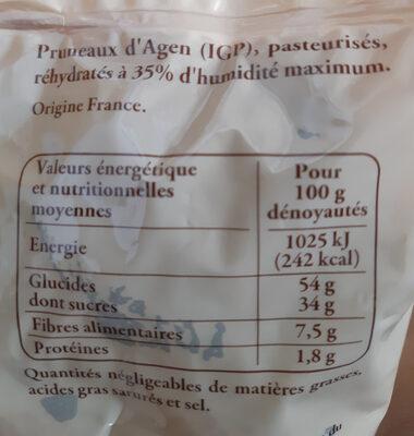 Pruneaux d'Agen - Ingrédients - fr