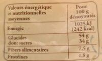 Pruneaux d'Agen - Informations nutritionnelles - fr